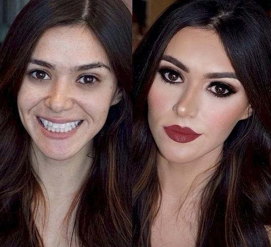 Makeup can transform you into anyone.